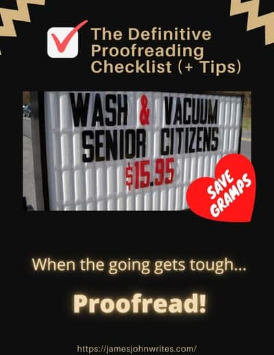 The Definitive Proofreading Checklist proofreading and editing Resized